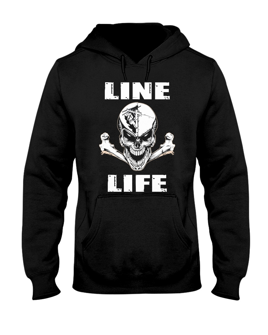 Lineman Life Skull Hooded Sweatshirt