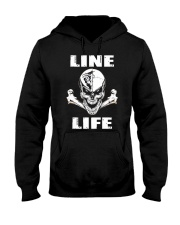 Lineman Life Skull Hooded Sweatshirt front