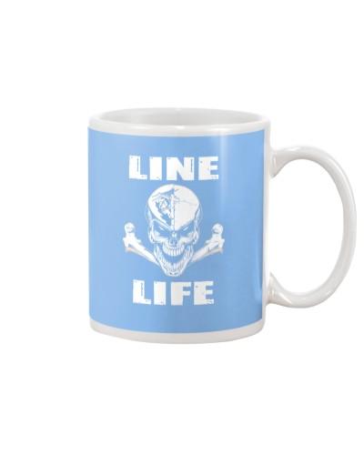 Lineman Life Skull