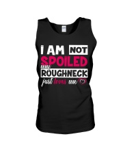 I am not spoiled my Roughneck just loves me Unisex Tank thumbnail