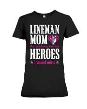 Lineman Mom Premium Fit Ladies Tee thumbnail