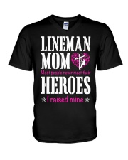Lineman Mom V-Neck T-Shirt thumbnail