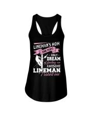 Lineman's Mom Some People On Dream Ladies Flowy Tank thumbnail