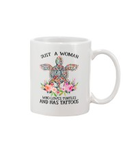 Just a woman who loves Turtles and has tattoos Mug thumbnail
