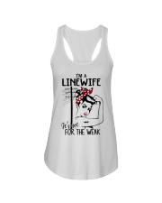 I'm a Linewife it's not for the weak Ladies Flowy Tank thumbnail