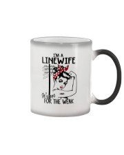 I'm a Linewife it's not for the weak Color Changing Mug thumbnail