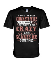 I Have The Best Concrete wife In The World V-Neck T-Shirt tile