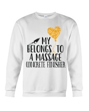 My Belongs To A Massage Concrete Finisher Crewneck Sweatshirt thumbnail