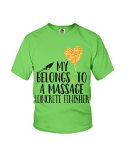 My Belongs To A Massage Concrete Finisher Youth T-Shirt front