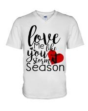 Love me like you storm season V-Neck T-Shirt thumbnail