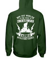 In This World The Title Concrete Finisher Hooded Sweatshirt back