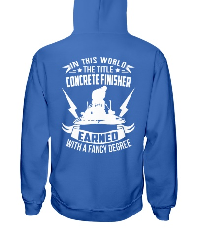 In This World The Title Concrete Finisher