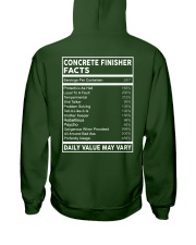 Concrete Finisher Facts Hooded Sweatshirt back