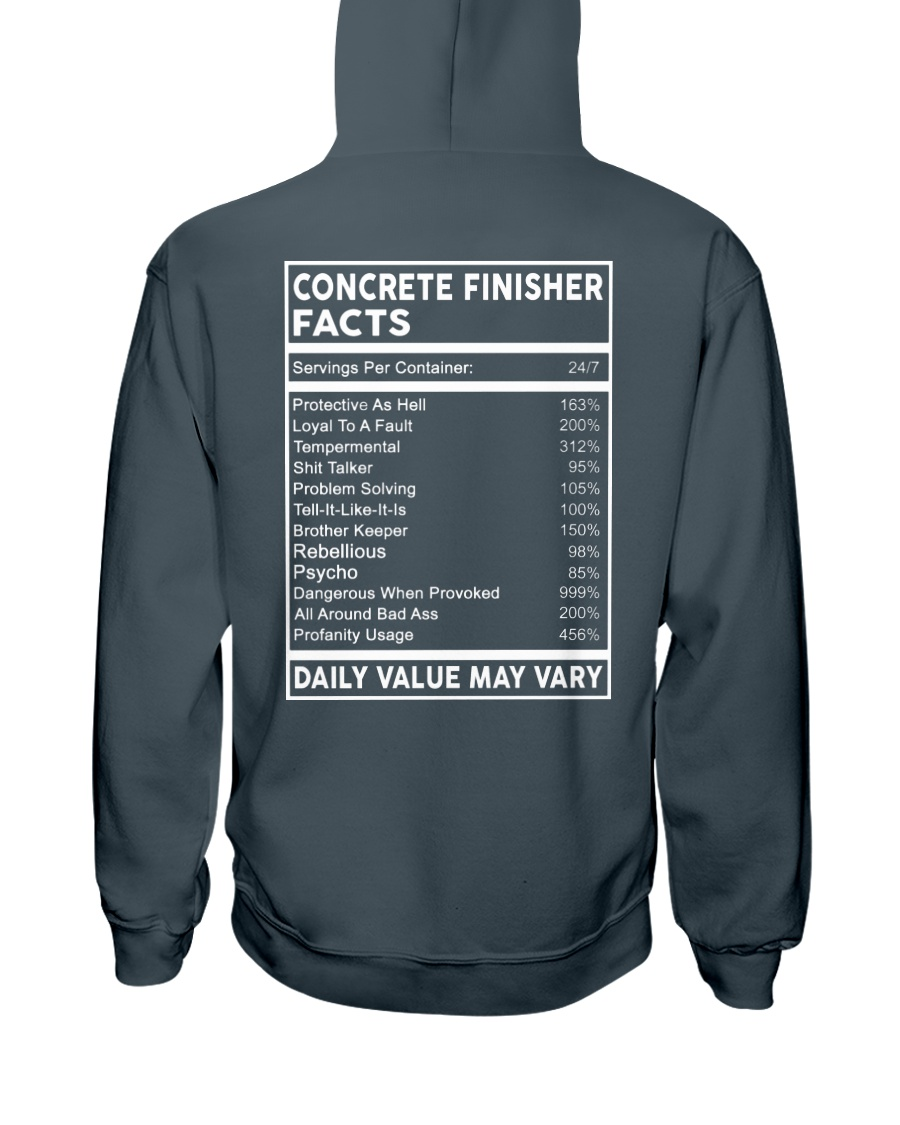 Concrete Finisher Facts Hooded Sweatshirt
