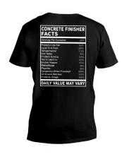 Concrete Finisher Facts V-Neck T-Shirt thumbnail