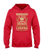 Badass By Birth Boilermaker By Choice Legend  Hooded Sweatshirt front