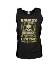 Badass By Birth Millwright By Choice Legend  Unisex Tank thumbnail