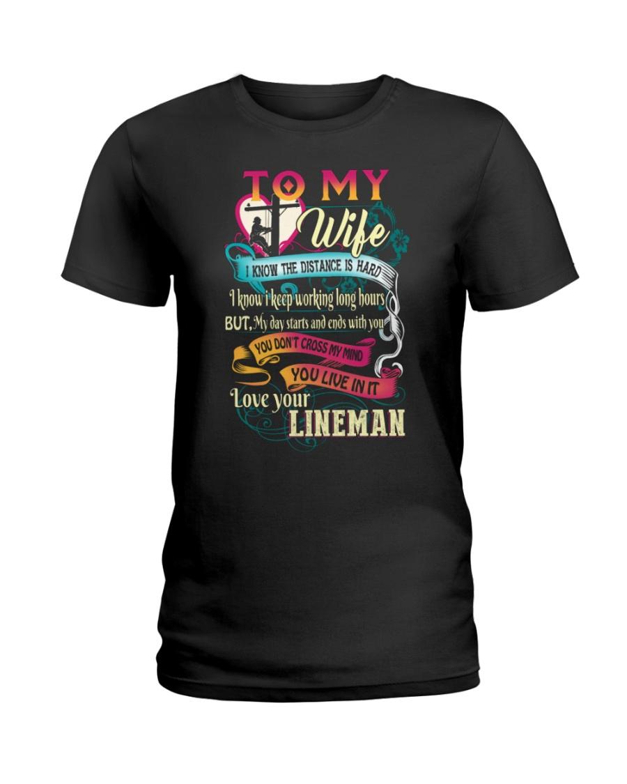 Lineman Wife Ladies T-Shirt