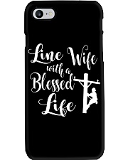 Line Wife With a Blessed Life Phone Case thumbnail