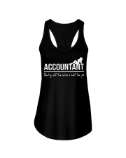 Accountant beating off the ladies is half the job Ladies Flowy Tank thumbnail