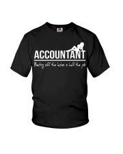 Accountant beating off the ladies is half the job Youth T-Shirt thumbnail
