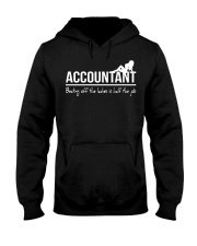 Accountant beating off the ladies is half the job Hooded Sweatshirt thumbnail