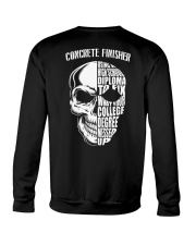 Concrete Finisher Skull Crewneck Sweatshirt thumbnail