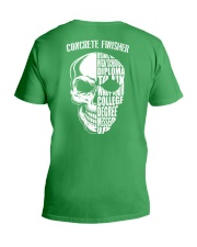 Concrete Finisher Skull V-Neck T-Shirt back