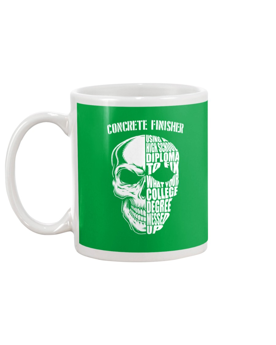 Concrete Finisher Skull Mug