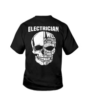 Electrician Skull Youth T-Shirt thumbnail