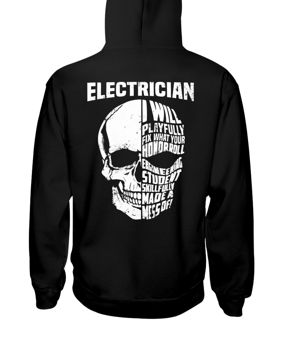 Electrician Skull Hooded Sweatshirt