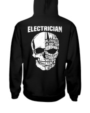 Electrician Skull Hooded Sweatshirt back