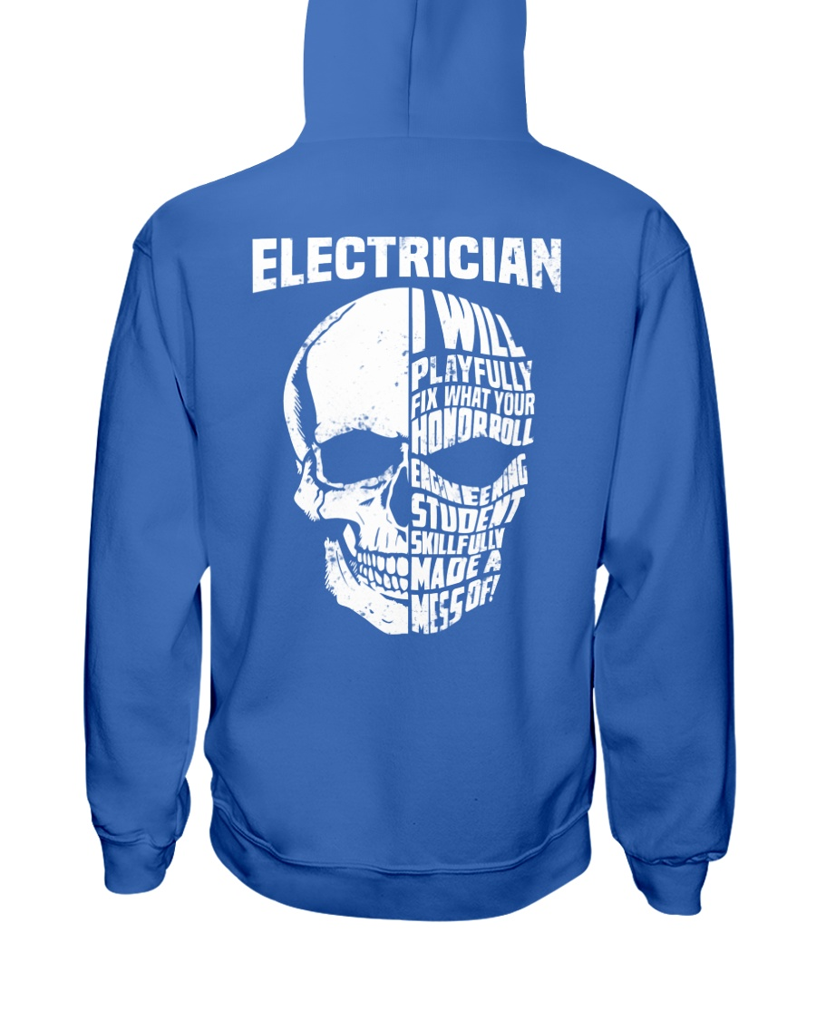 Electrician Skull Hooded Sweatshirt