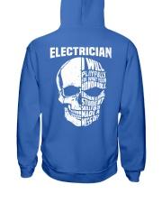 Electrician Skull Hooded Sweatshirt back