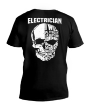 Electrician Skull V-Neck T-Shirt thumbnail