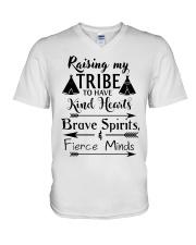 Native Raising My Tribe To Have Kind Hearts V-Neck T-Shirt thumbnail