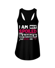 I am not spoiled my Barber just loves me Ladies Flowy Tank thumbnail