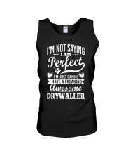 I Have A Freaking Awesome Drywaller Unisex Tank thumbnail