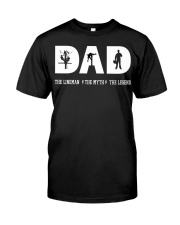 Dad the Lineman the myth the lengend Classic T-Shirt thumbnail