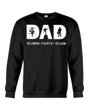 Dad the Lineman the myth the lengend Crewneck Sweatshirt thumbnail