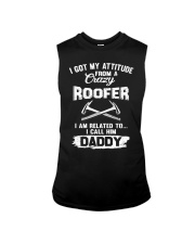 I got my attitude from a crazy Roofer Sleeveless Tee thumbnail