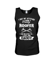 I got my attitude from a crazy Roofer Unisex Tank thumbnail