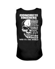 Concrete Finisher Skull Unisex Tank tile