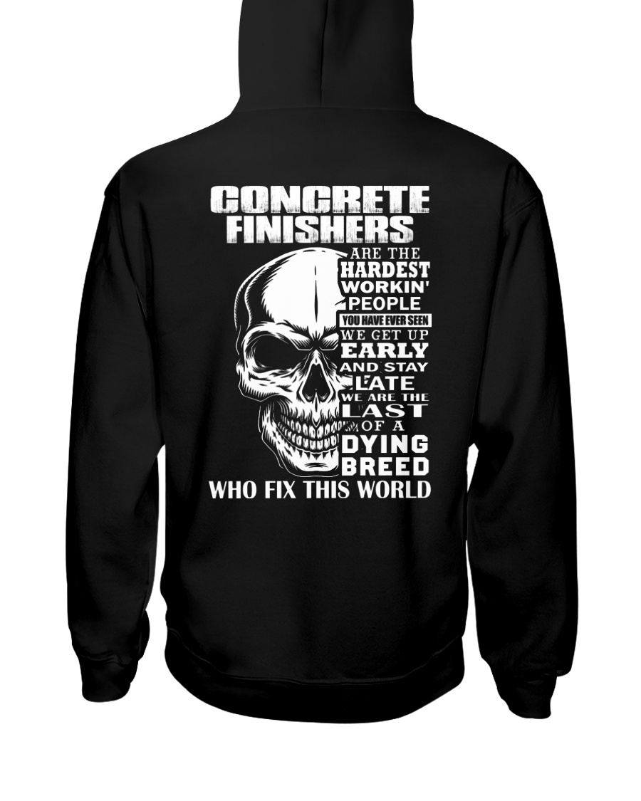 Concrete Finisher Skull Hooded Sweatshirt