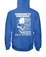 Concrete Finisher Skull Hooded Sweatshirt back