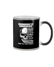 Concrete Finisher Skull Color Changing Mug tile