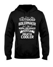 I'm a tattooed Boilermaker Hooded Sweatshirt front