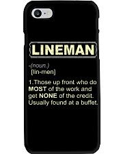 Lineman noun 2020 Phone Case thumbnail