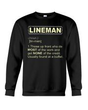 Lineman noun 2020 Crewneck Sweatshirt thumbnail