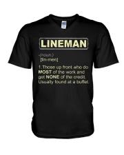Lineman noun 2020 V-Neck T-Shirt thumbnail